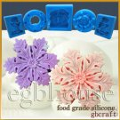2D Silicone Food grade Chocolate/Fondant mold - snowflake #1