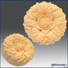 Silicone Soap Mold  Draped leaves rosette