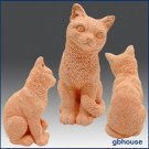 3D Silicone Soap Mold – Sitting Cat