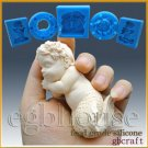 3D Silicone sugar/fondant/chocolate/soap Mold-Lifelike Baby Mermaid