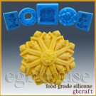 2D Chocolate food grade Mold / push mold / fondant mold – mini snowflake #1