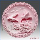 2D Silicone Soap Mold – Birds in Scarlet Pimpernel garden