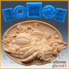2D Silicone Soap/sugar craft/fondant/chocolate Mold-Fruitful Harvest