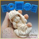 3D Silicone sugar/fondant/chocolate/soap Mold-Lifelike Baby Mia(2 parts mold)