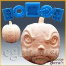 3D Silicone sugar/fondant/chocolate/soap Mold-Angry Pumpkin(2 parts mold)