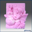 2D Silicone Soap Mold – Frosty, Fairy of the Snowmen