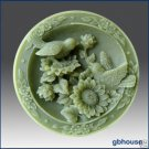 Garden Loving Birds on Sunflowers - Silicone soap mold
