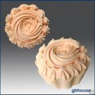 2D Silicone Soap/Candle Mold - Cup Cake with icing Top