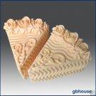 Silicone Soap/Candle Mold - Cake Slice - Rose Icing