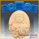Silicone Food Grade Chocolate/Fondant Mold –Buddha with Lotus – Oval