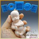 3D Silicone Soap/sugar/fondant/chocolat Mold-Sleeping Baby-free shipping