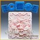2D Silicone Soap/sugar/fondant/chocolate Mold - Gardenia