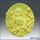 Baby Chicks with Flowers – Silicone Soap Mold