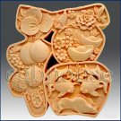 2D Silicone Soap Mold - Great Fortune Character - new design for 2013