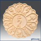 2D Silicone Soap Mold - Mani Lotus with Tibetan prayer