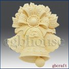 2D Silicone Soap Mold - Kringle Bells