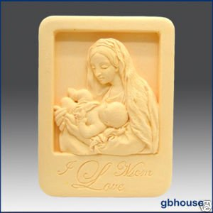 Silicone Soap Mold � Mother and Child in Niche Frame