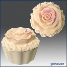 3D Silicone Soap/Candle Mold - Cup Cake with Rose Icing