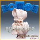 2D FDA Silicone Soap/sugar/fondant/chocolate Mold - Cute Lady Duck