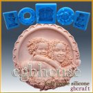 2D Silicone Soap/sugar/fondant/chocolate Mold - Joyful Mother and Daughter
