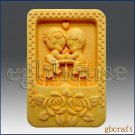 2DSilicone Soap Mold-Country Couple Sharing Sweet Treat