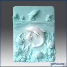 Dolphins at Play – 2D Silicone Ocean Topic Soap Mold