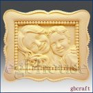 2D Silicone Soap Mold  - Mother and Child in Classic Frame