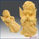 2 1/2D Silicone Soap Mold - Praying Angel Boy - Cherubim - FREE SHIPPING