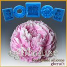 3-D Soap/sugar/fondant/chocolate Mold  -  Ruffled Peony
