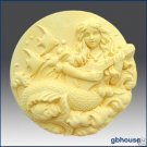 Silicone Soap Mold  -  Giselle, Mermaid of the Guitar