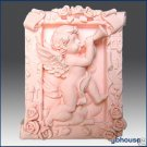 2D Silicone Soap and Candle Mold  Musical Cupid
