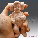 3D Silicone Soap Mold-Lifelike Baby Neo w/Princess Leia Hat(2 parts assembled)