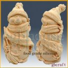 3D Food Grade Silicone Mold - Smiling Snowman in Cozy Cap