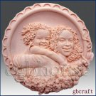 2D Silicone Soap Mold  - Joyful Mother and Daughter