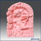 2D Silicone Soap Mold – Cupid Aiming