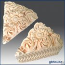 Silicone Soap/Candle Mold - Cake Slice - Blossoming