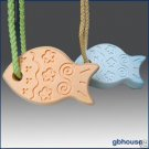 Silicone Soap Mold -Funny Fish Soap on Rope w/free rope