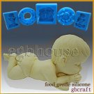 2 1/2D Silicone Soap/sugar/fondant/chocolate Mold -Cutie Baby - free shipping