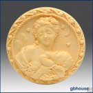 Silicone Soap Mold –   Mother and Cherub Round