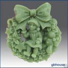 Silicone Soap Mold - Noelle: Fairy of the Wreaths