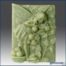 2D Silicone Soap Mold -  Donella, the Strawberry Fairy