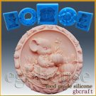 2D Silicone Soap/sugar craft/fondant/chocolate Mold-Country Pumpkin Mouse