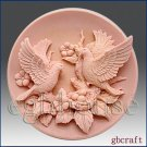2D Silicone Soap Mold  Birds with Nest