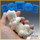 3D Silicone Soap/sugar/fondant/chocolat Mold-Lifelike Baby Jayden-free shipping