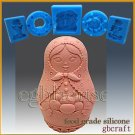 3D Silicone Soap/sugar craft/fondant/choc Mold -  Russian Nesting Doll with eggs