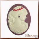 Silicone guest mini soap mold - Cameo IV - Isabella
