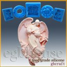 2D Silicone Soap/sugar craft/fondant/chocolate Mold-Angel of Conception - Lailah