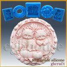 2 Silicone Soap/sugar craft/fondant/chocolate Mold-Purrfect Fall Kitties