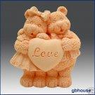 Silicone Soap Mold  – Bear My Valentine
