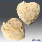 Silicone Soap/Candle Mold-Heart Shape Sunflower Cake